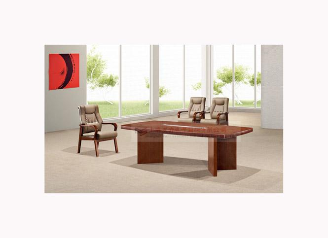 浅胡桃木会议桌01