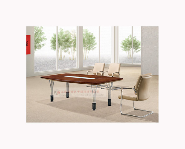 浅胡桃木会议桌02
